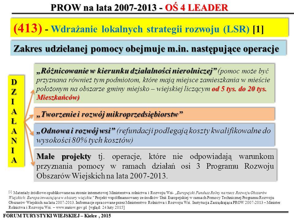 (413) - Wdrażanie lokalnych strategii rozwoju (LSR) [1]